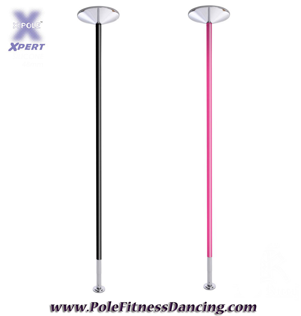 pink and black powder coated pole dancing poles X Pole X Pert
