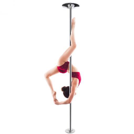 pole dancer in red on pfd pro quality fitness stripper dance pole chrome spinning portable removable static 45mm home kit