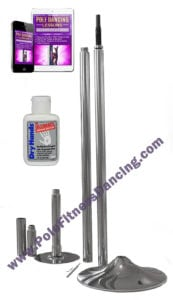 spinning portable removable pole dancing pole starter kit with lessons grip aid for home fitness