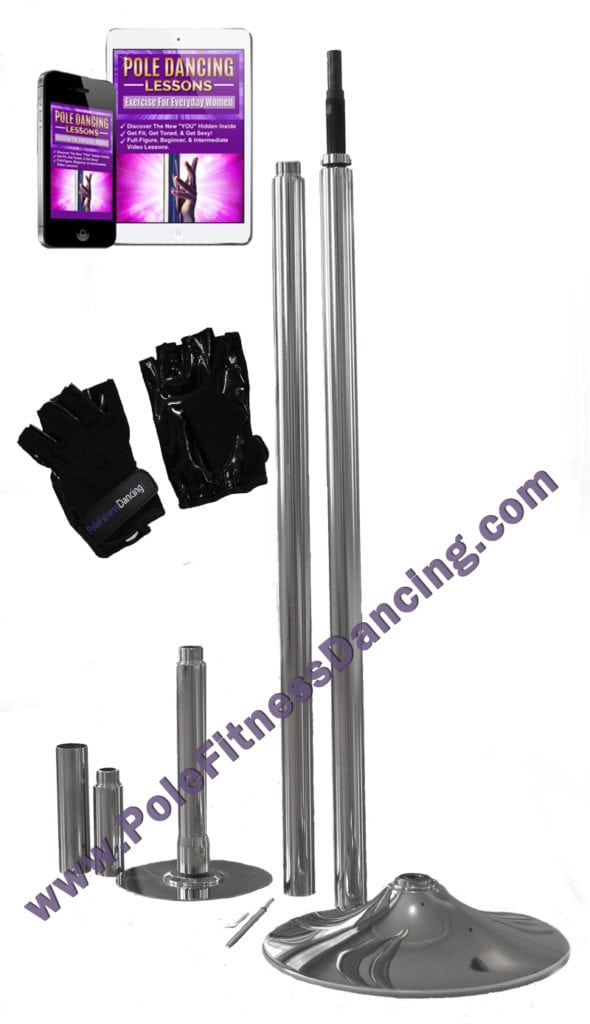 spinning portable removable pole dancing pole starter kit with lessons grip gloves for home fitness
