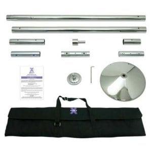 X Pole X Pert chrome pole dancing pole kit