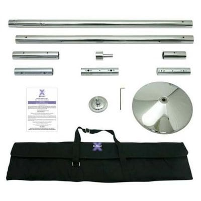 X Pole X Pert chrome pole dancing pole kit