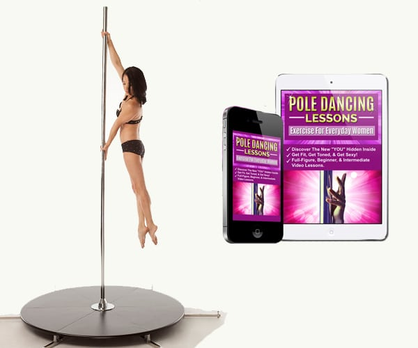 Chrome X Stage Lite X freestanding Pole dancing pole with base and video lessons