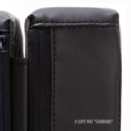 Lupit black round foldable pole dance crash mat pat black stitching