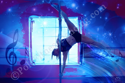 butterfly extended pole pose art print poster