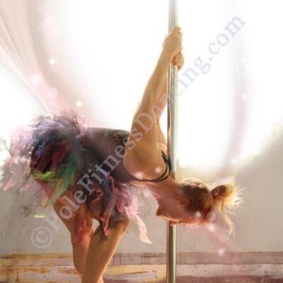dancer on pole reversed art print poster