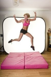 large black square pole dancing crash mat