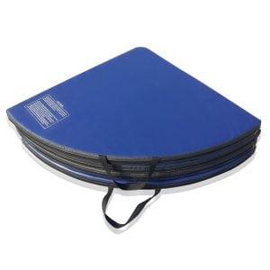 blue round pole dance crash mat folder 2