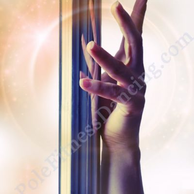 pole dance art print of hand on pole