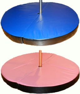 round pole dance crash mats in different colors