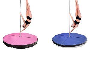 round crash mats for pole dancing poles