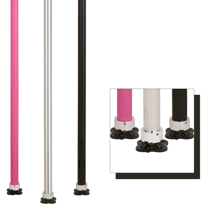 Lil Mynx Rotator pole dancing fitness spinning static stripper dance pole in pink stainless steel black silver