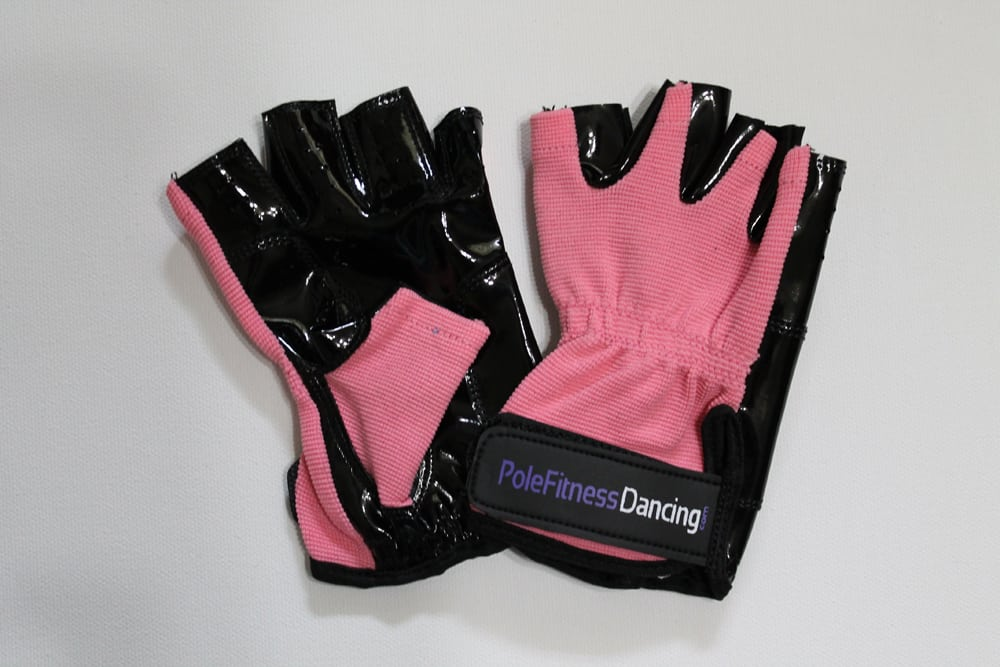 Light Pink tacky grip gloves for pole fitness training or yoga