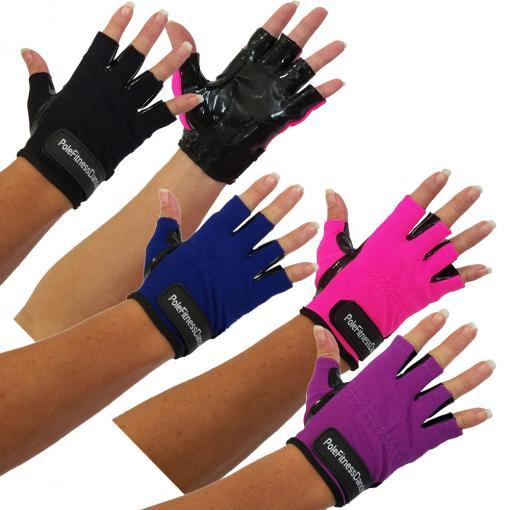 Pole Dance Grip Gloves Tack Aid Workout Fitness Gym Dancing Metal Lyra Hoop Aerial Hot Neon Pink Black Purple Blue Tacky Dry Hands Men Women