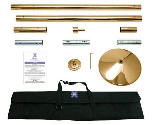 x pole x pert brass portable dance pole