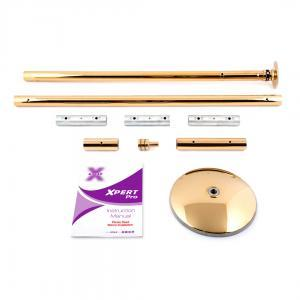 X-Pole XPert Pro PX model titanium gold dance stripper pole kit portable spinning static home