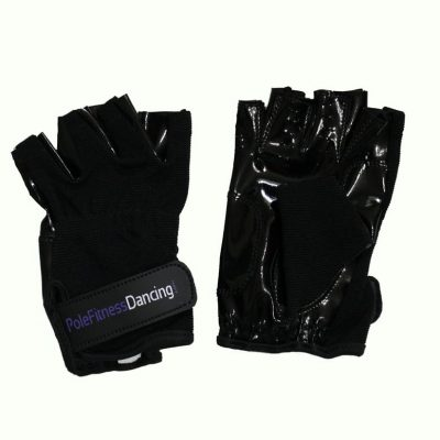 black grip gloves with tack for pole dancing training