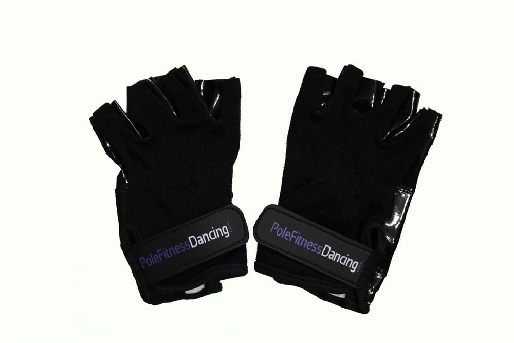 black tacky grip gloves for pole dance training