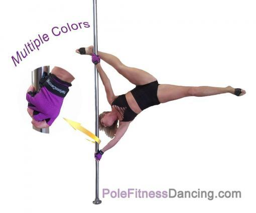 pole dance girl on a dancing pole with tacky gloves mighty grip non-tack