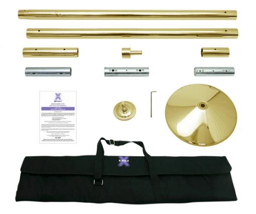 Titanium Gold X Pert X Pole portable removeable dance pole