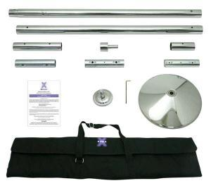 x-pole-xpert- stainless steel portable removable dance pole