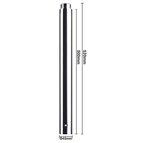 500mm chrome extension for a 45mm portable pole dancing pole