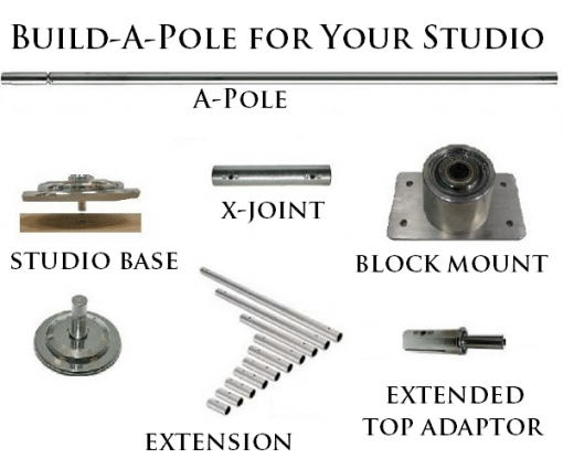 X Pole Build A Pole Dance Pole for taller ceiling heights
