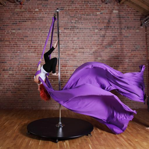 Silkii x pole on stage standard lite aerial silks attachment 40mm 45mm dance poles