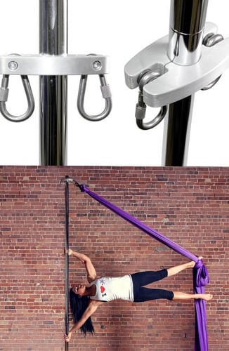 silks attachment carabiner for silks fabric