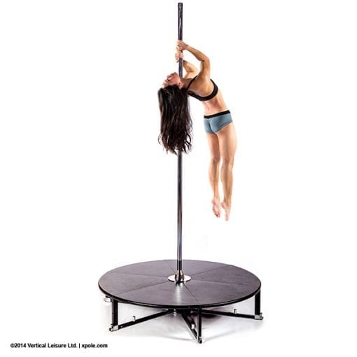 X Stage Standard stand alone freestanding portable dance pole with stage base