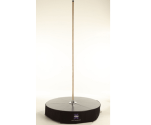 X stage standard brass free standing dance pole with stage base