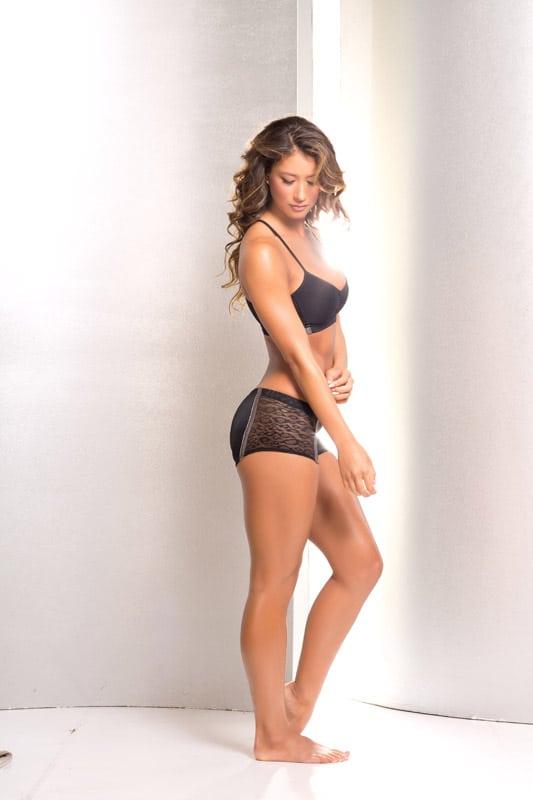 Bendy Diva   Silver & Black Scrunch Back Shorts