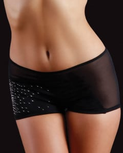 rhinestone black shorts for pole dancing fitness