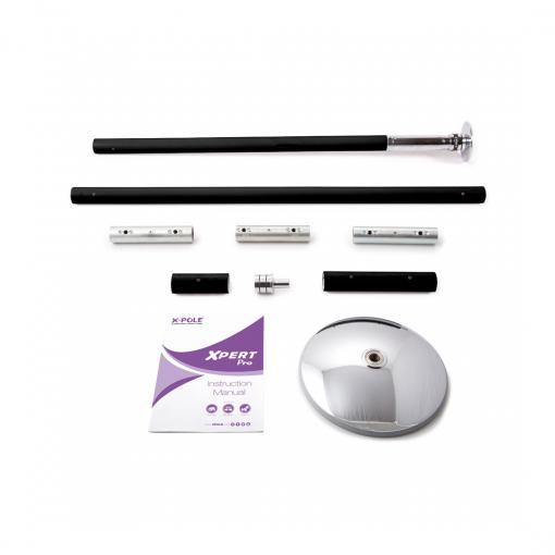 X-Pole XPert Pro PX model black powder coated dance stripper pole kit portable spinning static home