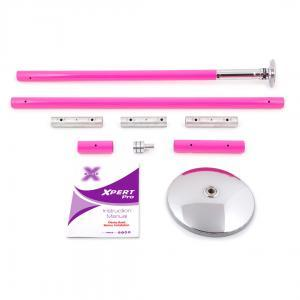 X-Pole XPert Pro PX model pink powder coated dance stripper pole kit portable spinning static home