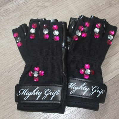 bling jeweled grip gloves for pole dancing