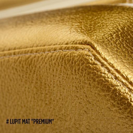 Lupit Gold Metallic Premium around pole dance crash mat pad edge stitching dancing fitness yoga