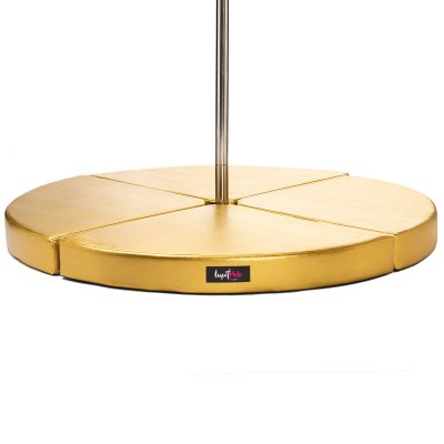 Lupit Gold Metallic Premium foldable portable round pole dance crash mat pad dancing fitness aerial