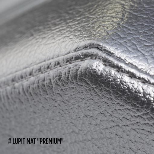 Lupit Premium Silver round foldable portable pole dance crash mat pad corner stitching for dancing fitness gymnastics aerial