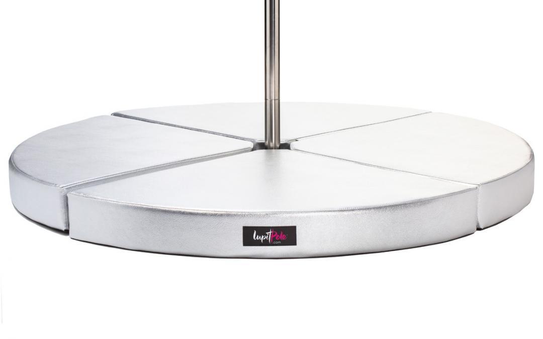 Lupit Premium Silver Round Pole Dance Crash Mats