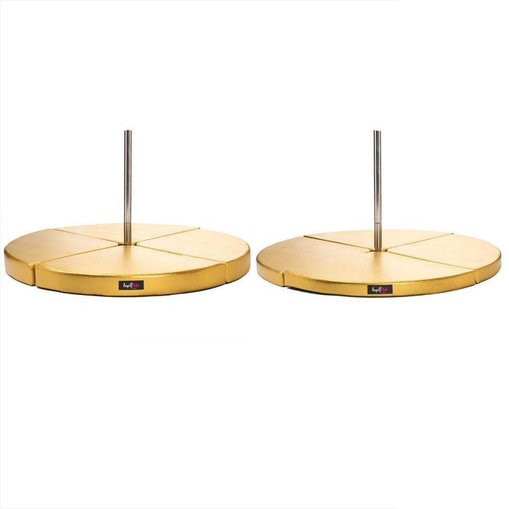 Lupit Premium gold crash mat sizes side by side