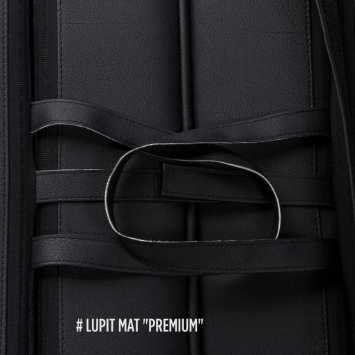 Lupit Premium round black foldable handles stitching pole dance crash mat pad dancing gymnastics aerial fitness yoga