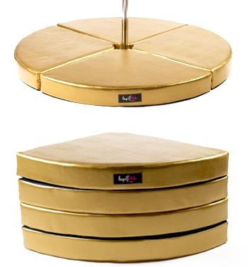 Lupit round pole dancing crash mat gold