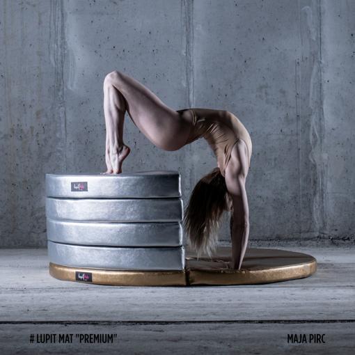 maja pirc on Lupit Premium round silver gold pole dance crash mats pad dancing