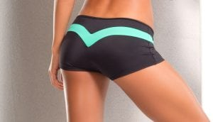 Dragonfly Mint Bodyzone shorts for fitness