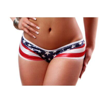 stipe back american flag patriotic scrunch back shorts front bodyzone