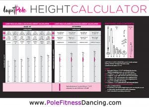 Lupit Classic dance pole height chart