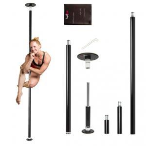 Lupit G2 home classic pole dancing pole powder coated black kit portable fitness exercise