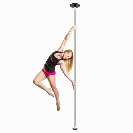 lupit classic stainless steel chrome spinning portable dance pole 2