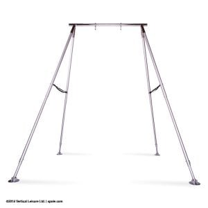X Pole A Frame Aerial Fitness with straps up higher and carbiners